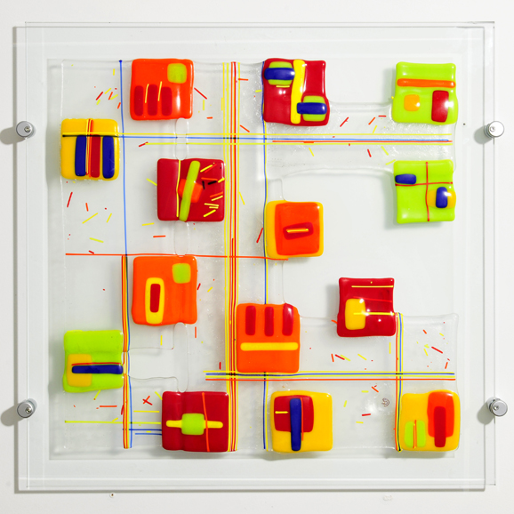 Siobhan Jones - fused glass panel