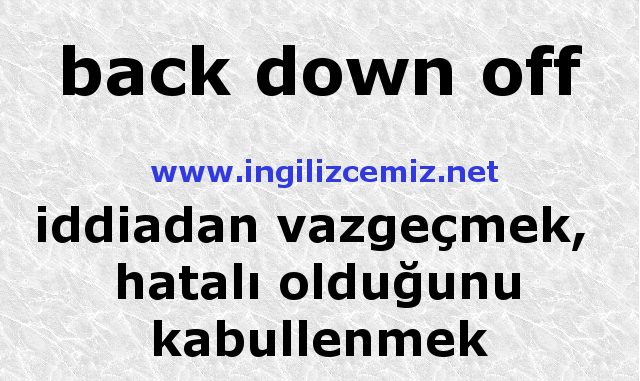 back down off