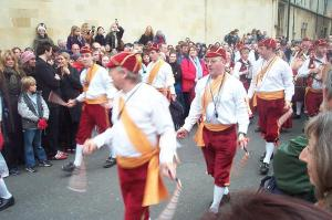 Bailarines de la Danza Morris del noroeste