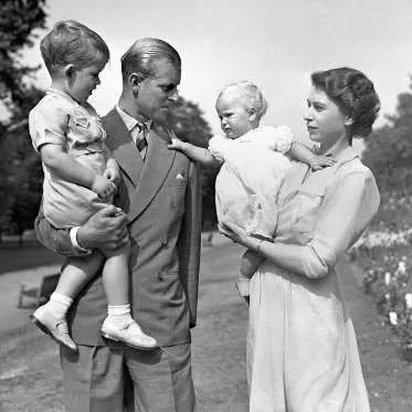 Principe Carlos con Principe Felipe
