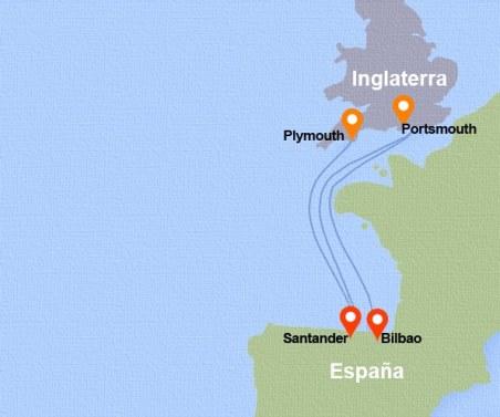 Rutas Ferry España Inglaterra