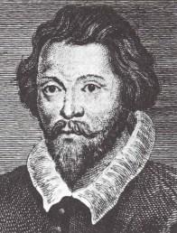 Retrato de William Byrd en blanco y negro