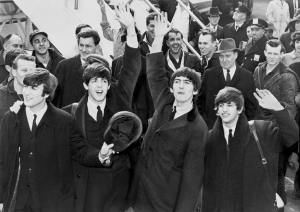 The Beatles, foto en blanco y negro