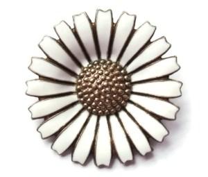 Anton Michelsen daisy brooch, for sale at Inglenookery.