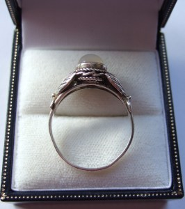 Rare antique Bernard Instone ring Sterling silver and moonstone ring 8
