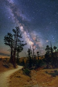 The Milky Way, photographed at Bryce Canyon, Utah, USA. Photo by Wally Pacholka.