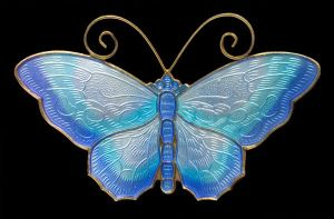 David-Andersen neamel and silver with vermeil butterfly brooch, c. 1950. Sold at Tadema Gallery.