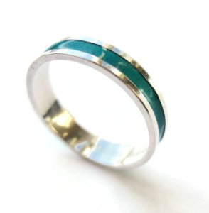David Andersen teal enamel and sterling silver ring, for sale in my Etsy shop. Click on photo for details.