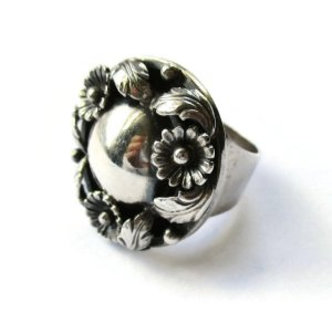 Vintage N E From sterling silver ring. For sale in my Etsy shop: click on photo for details.