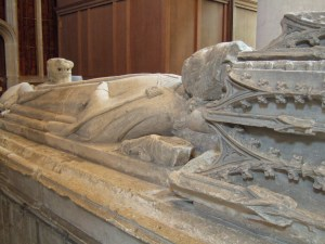 The 14th century tomb of King Aethelstan (c.893/895-939 AD), who is buried in an unknown spot somewhere in the Abbey grounds.