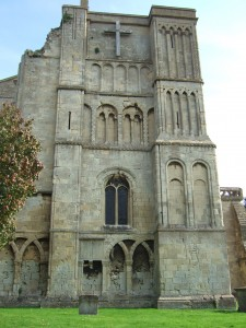 The west front of Malmesbury Abbey.