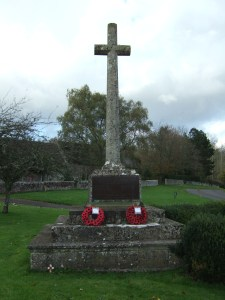 The war memorial in Dinton churchyard, Dinton, Wiltshire.