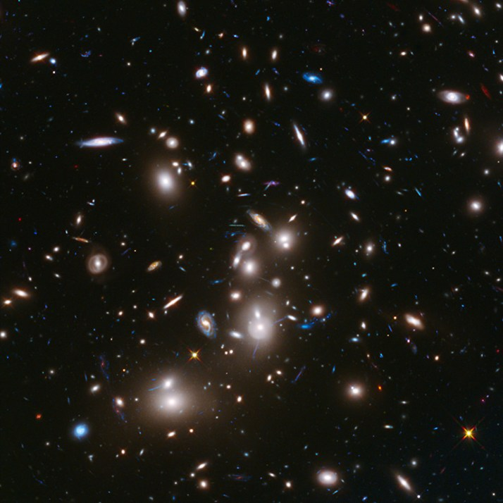 Hubble Space Telescope 2014: Frontier Field Abell 2744. Photo by the magnificent, utterly wonderful NASA.