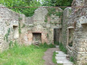 Another ruined cottage. The tie bars are holding the walls upright - without the roof they have started to spread quite markedly.