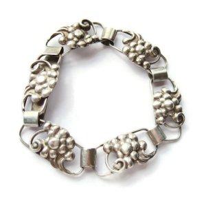 Vintage Danish 830 silver link bracelet by Chr. Veilskov.