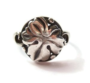 A vintage Danish 830 silver ring by S. Chr. Fogh of Copenhagen, for sale in my Etsy shop. Click on photo for details.