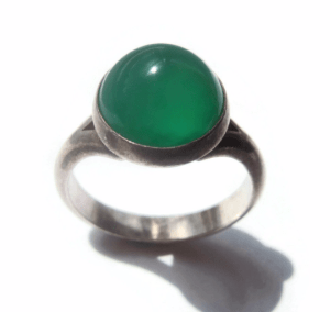 N E From green chalcedony ring. For sale in my Etsy shop: click on photo for details.