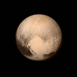 Pluto, photographed by the New Horizons probe on 13 July 2015.