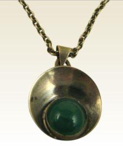 N E From chrysoprase pendant.