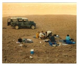 Waking up in Wadi Rum, 1985.