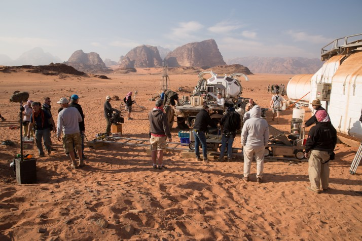 Location filming in the Wadi Rum for The Martian.