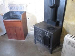 Smeaton's Tower: the kitchen. Lead sink, eek!