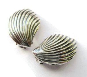 Elegant vintage Danish sterling silver clipon earrings.