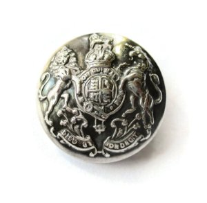 Vintage lion and unicorn heraldic brooch.