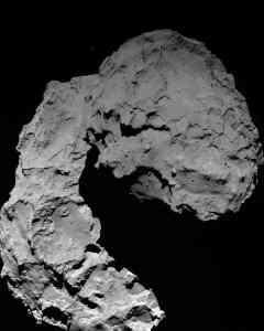 Rosetta's OSIRIS wide-angle camera captured this image at 11:49 GMT yesterday (29 September 2016) when Rosetta was 22.9 km from Comet 67P/Churyumov-Gerasimenko. Photograph: Credits: ESA/Rosetta/MPS for OSIRIS Team MPS/UPD/LAM/IAA/SSO/INTA/UPM/DASP/IDA