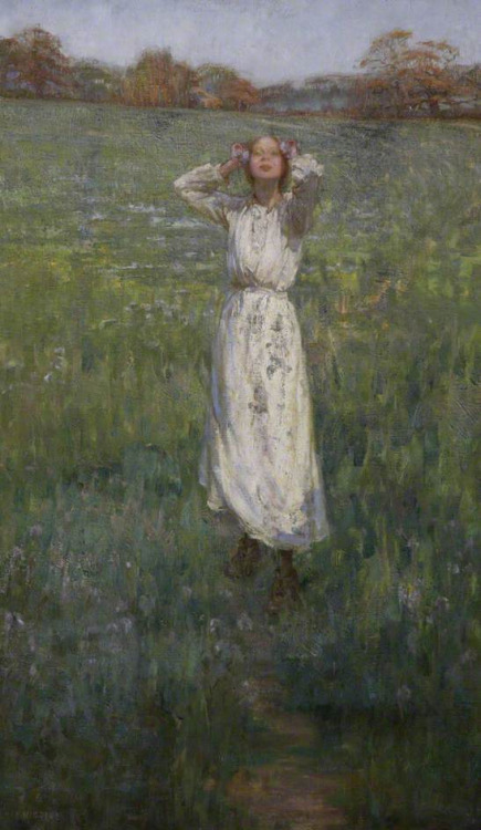 A May Morning, by Elsie Higgins. (c) Plymouth City Council: Museum and Art Gallery; Supplied by The Public Catalogue Foundation