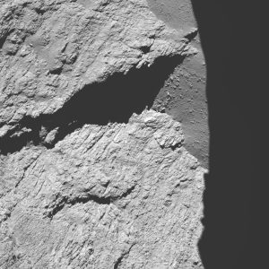 Comet 67P/C-G viewed with Rosetta's OSIRIS NAC on 30 September 2016, 11.7 km from the surface. Credit: ESA/Rosetta/MPS for OSIRIS Team MPS/UPD/LAM/IAA/SSO/INTA/UPM/DASP/IDA