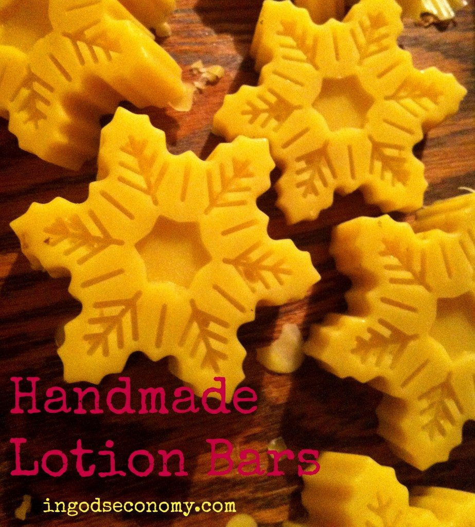 Handmade lotion bars are