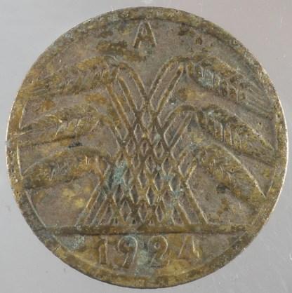 1924 - 5 Rentenpfennig A 4