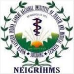 NEIGRIHMS Recruitment 2020 Junior Research Fellow 01 Post