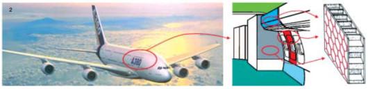 2 Beispiel für die Anwendung der Wabenstruktur in der Sandwichbauweise heute (Quelle: Airbus).