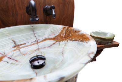 Chestnut Oak Pedestal Sink - Bowl
