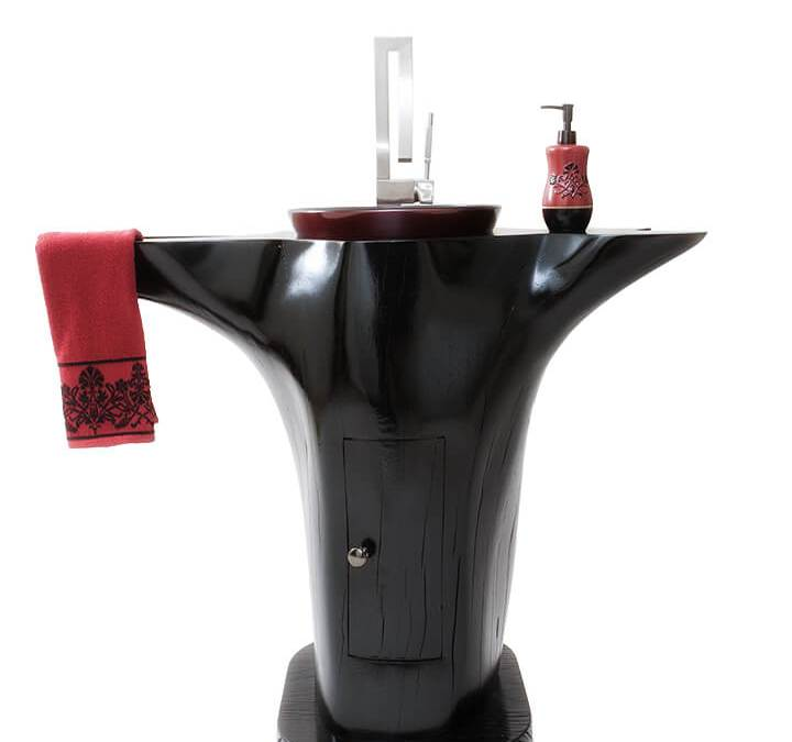 Red Oak Dyed Black
