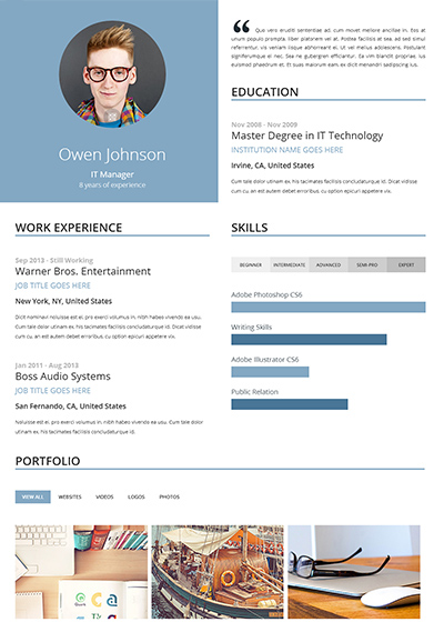 eye catching one page resume template example found on https www