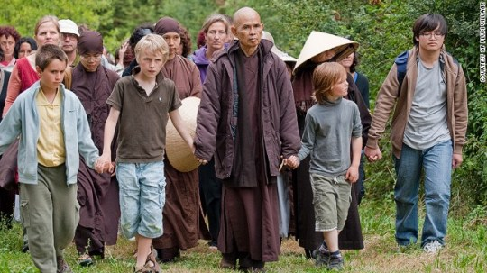 Mindful walking with Thich Nhat Hahn