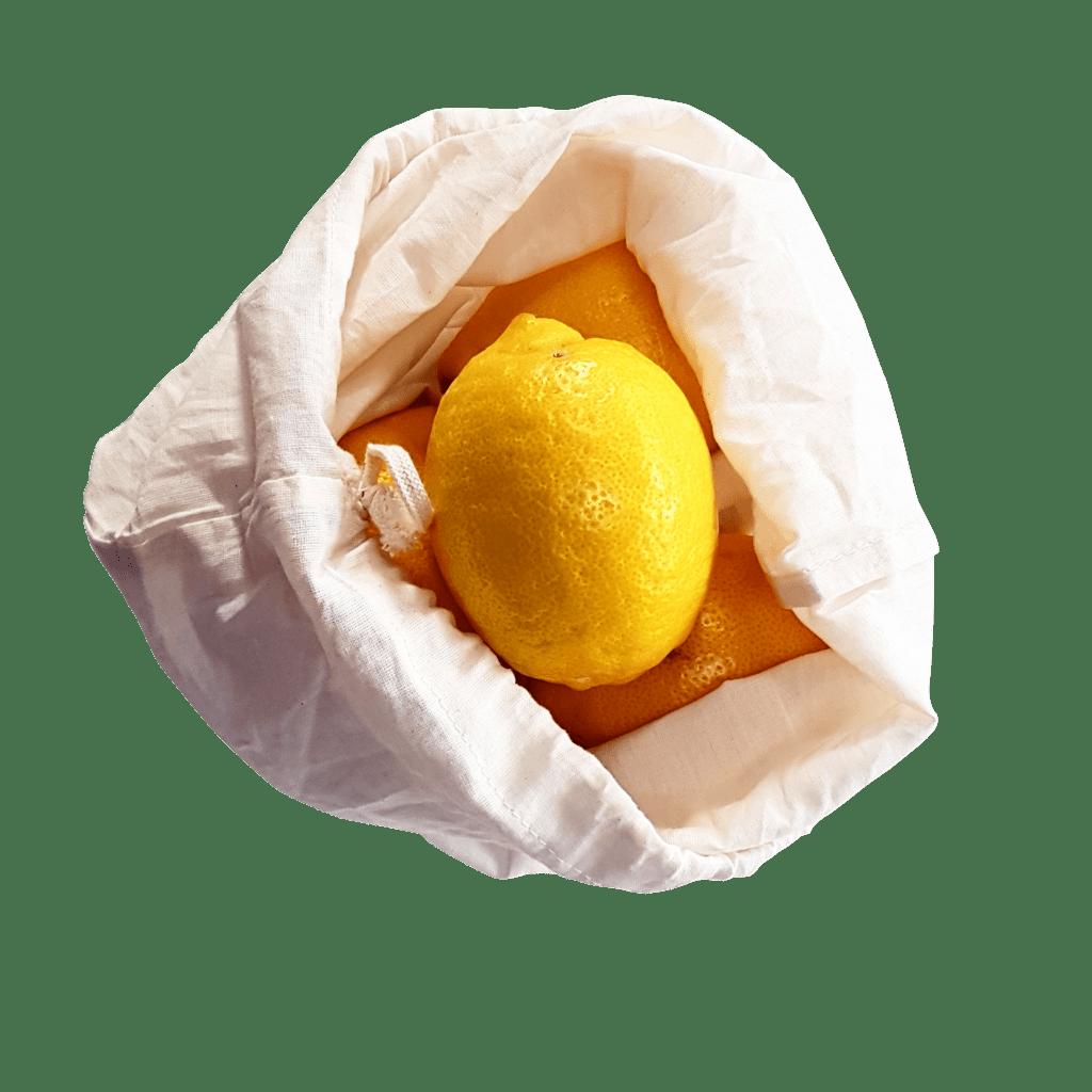 Reusable Cotton Bag With Lemon