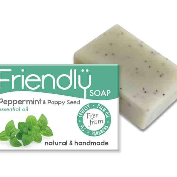 Friendly Peppermint & Poppy Seed Soap
