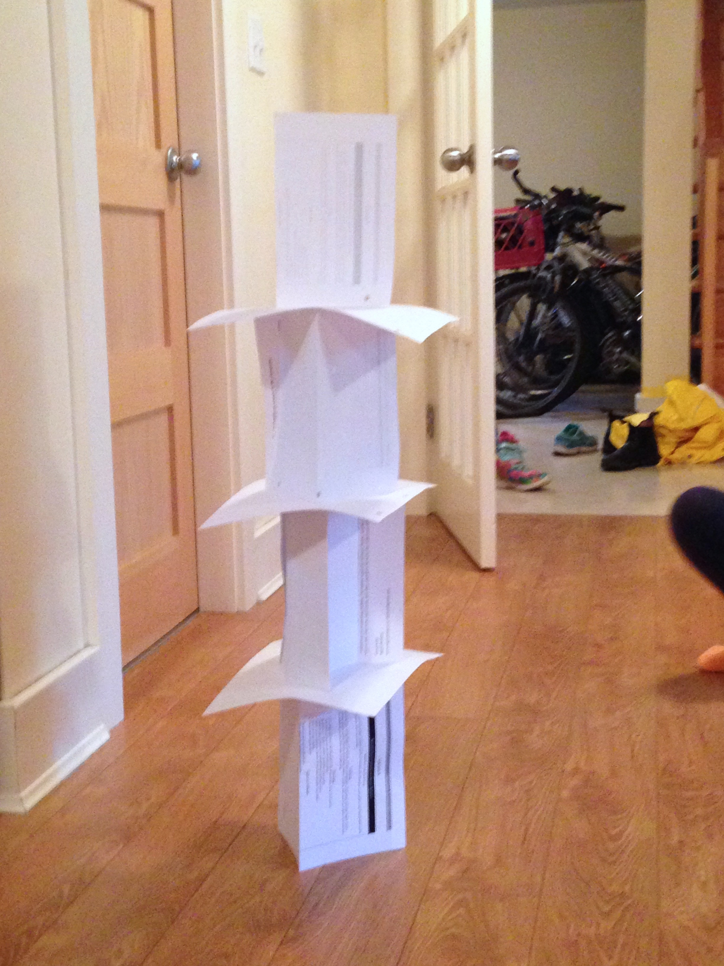 Paper Tower Challenge Ingridscienceca