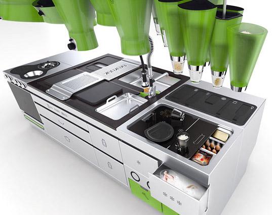 sustainable design, green design, green interiors, ekokook, eco kitchen, faltazi, efficient design, kitchen of the future