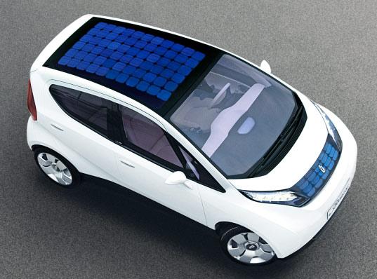 Blue Car Ed on Toyota Prius Solar Roof Panel