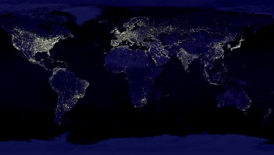 Lights around the world - image from Inhabitat
