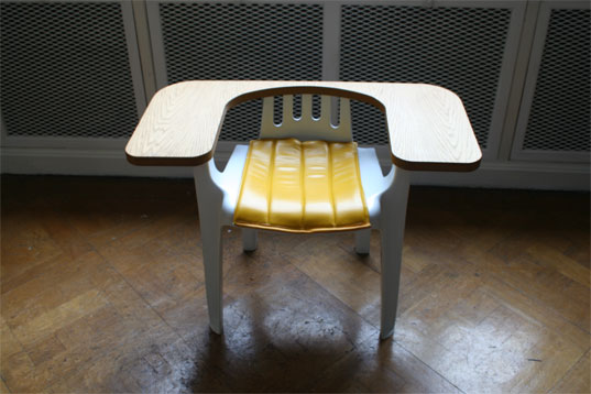 Martino Gamper, 100 Chairs in 100 Days: White & Yellow Chair, Ariana Mouyiaris