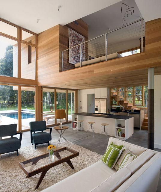 Berg Design, energy star, John Berg, kynar, low-e glass, mid-century modern, Old Stone Highway House, saline pool, sips, structural insulated panels, sustainable architecture, Highway2