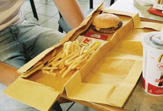 mcdonald's packaing, sustainable design, product packaging, biodegradable materials, green design, green mcdonald's, green golden arches, andrew millar, university of the arts student, compostable materials