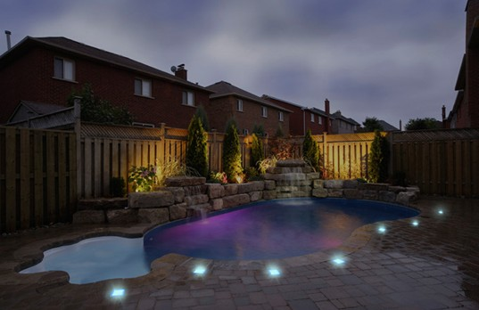 Solar Cynergy Solar LED Lights, Pool View