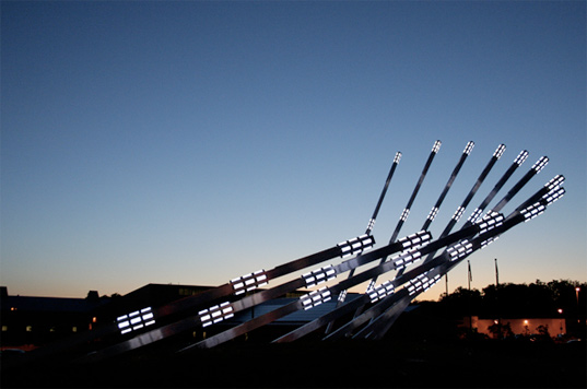 New Solar Collector public art piece.